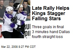 Late Rally Helps Kings Stagger Falling Stars