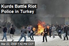 Kurds Battle Riot Police in Turkey