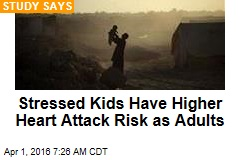 Stressed Kids Have Higher Heart Attack Risk as Adults
