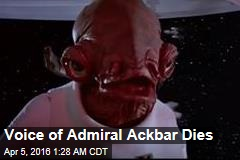 Voice of Admiral Ackbar Dies