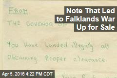 Note That Led to Falklands War Up for Sale