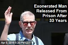 Exonerated Man Released From Prison After 33 Years