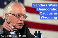 Sanders Wins Democratic Caucus in Wyoming