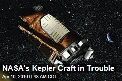 NASA's Kepler Craft in Trouble