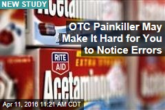 OTC Painkiller May Make It Hard for You to Notice Errors