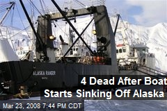 4 Dead After Boat Starts Sinking Off Alaska
