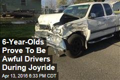 6-Year-Olds Prove To Be Awful Drivers During Joyride