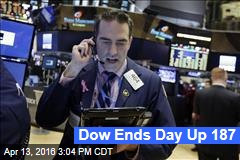 Dow Ends Day Up 187