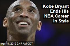 Kobe Bryant Ends NBA Career in Style