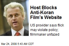 Host Blocks Anti-Koran Film's Website