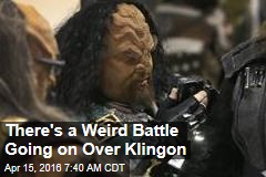 There's a Weird Battle Going on Over Klingon