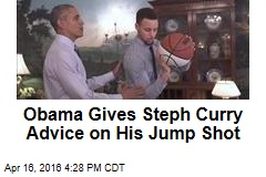 Obama Gives Steph Curry Advice on His Jump Shot