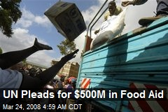 UN Pleads for $500M in Food Aid