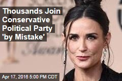 Thousands Join Conservative Political Party by 'Mistake'