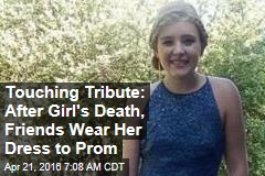 Friends Wear Girl's Prom Dress in Touching Tribute