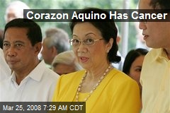 Corazon Aquino Has Cancer