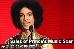 Sales of Prince's Music Soar