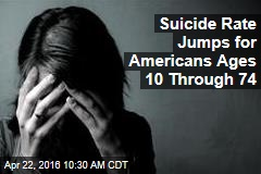 Suicide Rate Jumps for Americans Ages 10 Through 74