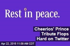 Cheerios' Prince Tribute Flops Hard on Twitter