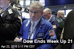 Dow Ends Week Up 21