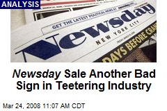 Newsday Sale Another Bad Sign in Teetering Industry