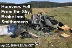 In US Army Exercise, Humvees Rained From Sky