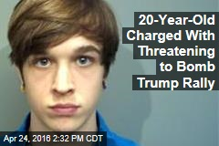 20-Year-Old Charged With Threatening to Bomb Trump Rally