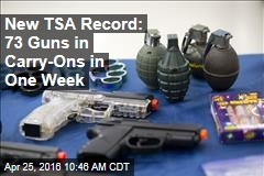 New TSA Record: 73 Guns in Carry-Ons in One Week