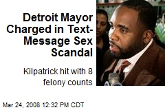 Detroit Mayor Charged in Text-Message Sex Scandal