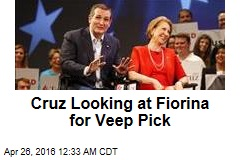 Cruz Looking at Fiorina for Veep Pick