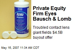 Private Equity Firm Eyes Bausch & Lomb