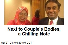 Next to Couple's Bodies, a Chilling Note