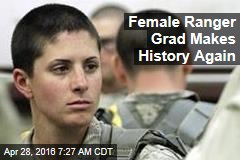 Female Ranger Grad Makes History Again