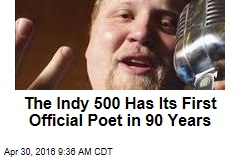 The Indy 500 Has Its First Official Poet in 90 Years