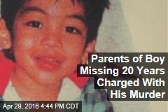 Parents of Boy Missing 20 Years Charged With His Murder