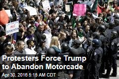 Protesters Force Trump Out of Motorcade