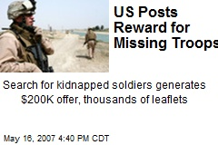 US Posts Reward for Missing Troops
