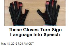 These Gloves Turn Sign Language Into Speech