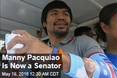 Manny Pacquaio Is Now a Senator