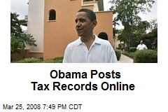 Obama Posts Tax Records Online