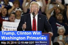 Trump, Clinton Win Wash. Primaries