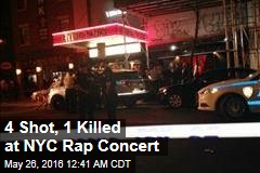 4 Shot, 1 Killed at NYC Rap Concert