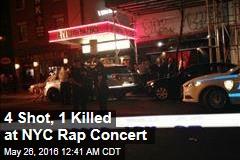 4 Shot, 1 Killed at NYC Rap Concert