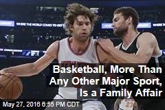 Basketball, More Than Any Other Major Sport, Is a Family Affair