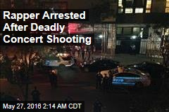Rapper Arrested After Deadly Concert Shooting