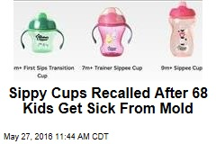 Sippy Cups Recalled After 68 Kids Get Sick From Mold