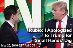 Rubio: I Apologized to Trump for 'Small Hands' Dig
