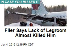 Plane Passenger Says Lack of Legroom Almost Killed Him