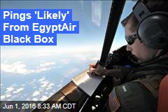 Pings 'Likely' From EgyptAir Black Box