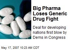 Big Pharma Loses Generic Drug Fight